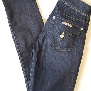 Hudson Dark Wash Collin Flap Skinny Jeans Size 26